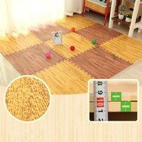 Cushion Decorative Pillow Foam Play Puzzle Mats Wood Grain Soft Non-slip DIY Toy Floor Carpets Reduce Noise HYD88