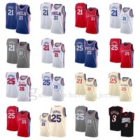 New Basketball Jersey21 Joel EmbiId25 Ben Simmons3 N.iverson Atmungsaktiver Basketball-Jersey