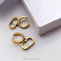 Frauen Designer Tribales Ohr Schmuck Baumeln Klassische Edelstahl-Steelantike Gold-Finish-Metall- und Weißharz-Perlen mit Kasten 37