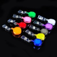 Retractable Lanyard ID Card Badge Holder Reels with Clip Keep ID Key Cell phone Safe 500pcs lot