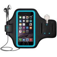 아이폰 13 12 미니 11 Pro 삼성 갤럭시 S21 S20 안드로이드 스마트 폰을위한 키 홀더 카드 슬롯이있는 무장 스포츠 운동 체육관 스포츠