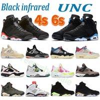 Yüksek Kalite 4 S 6 S Basketbol Ayakkabı Kaktüs UNC Siyah Kızılötesi Beyaz X Yelken Bred DMP Noir Guava Buz Elektrikli Yeşil Erkek Kadın Spor Sneakers