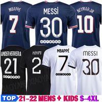 Messi mbappe hakimi sergio ramos wijnaldum futebol jersey 21 22 camisa de futebol 2021 2022 marquinhos homens + kit kits uniforme enfants maillot de pé