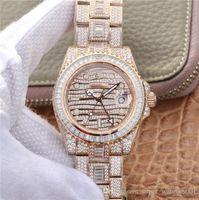 TW 116769TBR-74779B Relógio Montre de Luxe 40mm 2824 Movimento 904L Oyster Caso Coberto com Swarovski Diamond Watches mecânicos