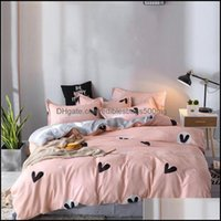 Supplies Textiles Home & Gardendesigner Bed Comforters Bedding Set 100% Polyester Fiber Household Brief Plant Pillowcase Duvet Er Sets Comfo