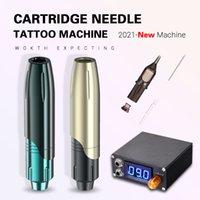 Brow Rotary Tattoo Cosmetic Tattoo Machine all'ingrosso Semi Digital Trucco Permanente Sopracciglio Microblading PMU wireless PMU Pen