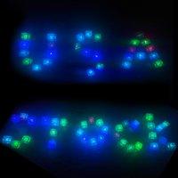 Färgglada Nattljus Glödande Is Kub Vin Glas Dekoration Led Fluorescerande Block Blinkande Sensor Induktion Ices Lamp Bröllop Alla hjärtans dag USA Stock