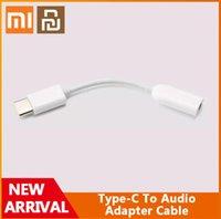 Original Xiaomi Youpin typec à audio mâle 3 5mm Câble adaptateur femelle Type C 3 5 casque AUX MI6 MI 6 A2 Note 3 Mélange 2S P20