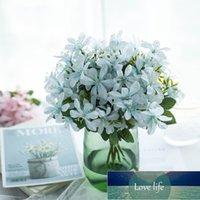 인공 꽃 파란색 벚꽃 gypsophila 가짜 식물 DIY 결혼식 꽃다발 화병 가정 장식 인조 크리스마스 지점