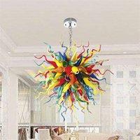 Современные подвесные светильники люстра для украшения гостиной светодиодные светильники многоцветные 100% ручной рот душевые стекла ChandeLeirs Светильники D90CM спальня вилла люстры