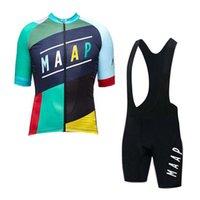 Pro Takım Maap Bisiklet Jersey Set Erkekler Yaz Kısa Kollu Yol Bisikleti Kıyafetler Hızlı Kuru Bisiklet Üniforma Açık Spor Y071603