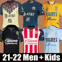 2021 2022 Club America Chivas 115th NAUL Tigres Fußballtrikots F. VINAS HENRY Liga MX 20 21 RODRIGUEZ América dritter Trikot-Torhüter GIOVANI Herren + Kinder-Trikot Fußballtrikot