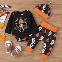 اليورو الأمريكية فتاة صبي مجموعة ملابس هالوين شبح هوديس + سروال + قبعة cosplaysoft ملابس الاطفال ثلاثة قطعة مجموعات 3-24months