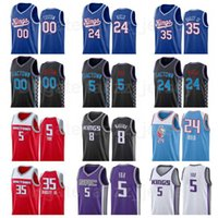 Screen Print Basketball Marvin Bagley III Jersey 35 Deaaron Fox 5 Harrison Barnes 40 Tyree Haliburton 0 Chris Webber 4 Édition
