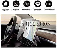 "Tesla Model 3 Model Y 15 ""Merkez Kontrolü Dokunmatik Ekran GPS Navigasyon Temperli Cam Dokunmatik Ekran Koruyucu, 9H Anti-Scratch"