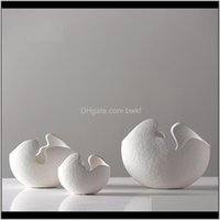 Décor & Gardendirect Selling Chinese Jingdezhen Porcelain Creativity Modern Style White Ceramic Vases For Wedding Home Decoration Gift Drop D