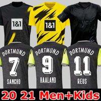 남자 + 키즈 19 20 21 Dortmund Borussia Reus Guerreiro Jerseys 축구 정전 Sancho Hummels Haaland 스포츠 셔츠 브랜트