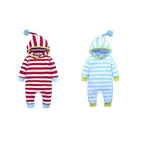 INS Baby Clothes Striped Infant Boys Hoodies Romper Long Sleeve Newborn Girls Jumpsuit Children Outfits Boutique Baby Clothing 435 K2