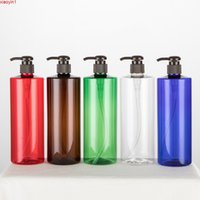 500ML X 20 Empty Lotion Pump Bottles Brown Cosmetic Container Liquid Soap Dispenser Refillable Shampoo Shower Gel Bottleshigh qty