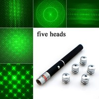 Starry Green 5 In 1 Star Caps Presenter Power point Laser Pointer Presentation Remote Pen 5mW 532nm For Cat Catch Teasing Training AAA Battery Operated