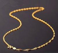 999 الصلبة 24 كيلو الذهب الأصفر سلسلة قلادة / سنغافورة 2.4G