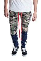 Pantaloni da uomo di moda Casual Pantaloni a matita fitness casual in stile europeo e americano hip hop stile mimetico pantaloni patchwork camouflage