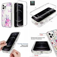 Flower Hybrid Hard Cases For Iphone 12 MINI PRO MAX 7 8 SE2 Ipod Touch 5 6 MOTO E G Play 2021 Power Shockproof Butterfly Clear TPU PC Frame Phone Cover Back Luxury