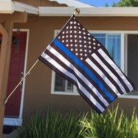 Direkte Fabrikgroßhandel 3x5FTs 90cmx150cm Gesetz Vollstreckungsbeamte USA US-amerikanische Polizei dünne blaue Linie Flagge BWB1088