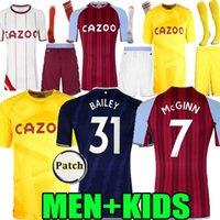Adulte enfants 21 22 Aston Villa Troisième Soccer Jerseys Watkins Wesley 2021 2022 Gardien de but jaune AVFC Grealish el Ghazi McGinn Trezeguet Hommes Chemise de football enfant