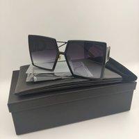 2020 compuesto 30montaigne gafas de sol mujeres de color marco de color cuadrado negro futurista retro gafas de sol hombres rectangulares