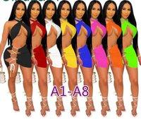 2021 Seksi Kadınlar Yüksek Yan Bölünmüş Gece Clubwear Kısa Elbise Femael Uzun Kollu Düşük Kesim Derin V Boyun Bodycon Slim Fit Parti Giymek Elbiseler