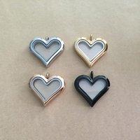 سحر الحب على شكل قلب الذاكرة العائمة مربع قلادة قلادة diy مجوهرات