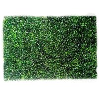 60*40cm Artificial Plant Foliage Hedge Grass Mat Greenery Panel Decor Wall Fence Carpet Real Touch Lawn Moss Fake Decorative Flowers & Wreat