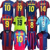 Retro Fussball Jersey Barcelona 96 97 03 04 05 06 07 08 09 10 11 14 15 Xavi Ronaldinho Ronaldo Rivaldo Guardiola Insta Finale Messi Maillot de Foot 1899 1999 2015