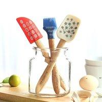 Silikonkuchencreme Butter Spatel Abstreifer Rührkuchen Utensilien Backting Pinsel Mischmesser Kochen Gebäckwerkzeuge Set FWE9475