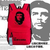 Backpack Che GuevaraのリーダーポスターDamer Bag Backpacks Unisex Canvas学生ショルダーバッグあなたのギフト45x32x14cm