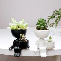 الإبداعية الرؤوس السيراميك زهرة وعاء زهرية نبات النباتات سمين المنزل الديكور