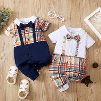 حللا مولود طفل رضيع الملابس منقوشة طباعة بذلة الصيف الدعاوى طفل تتسابق السادة الملابس