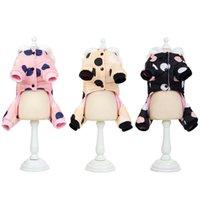 Hiver Dog Vêtements Hoode Hoodie Coating Big Polka Dot Coton Manteau Épaissir Vêtements chauds d'hiver pour petits chiens Pull Pull Chiens Chiens Animaux 201126 944 R2