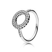 925 Стерлинговые Серебряные сердца Halo Ring Set Оригинальная коробка для Pandora Зерновые Женщины Мужчины Свадьба CZ Diamond 18K Золотые кольца