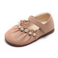 Zapatos planos Cuzullaa Niños Niños Bead de cuero suave Girls Princess Sole Vestido Pisos Niños Niños Niños Mary Janes 21-30