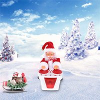 Drumming Santa Claus Toy with Light Music Electric Rotating Christmas Decoration G0930