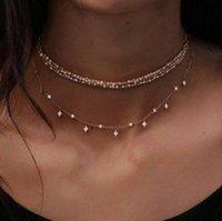 Gold Shell Pearl Collana Moda Signore Designer Tre Layer Jewelry Designer Accessori Lurxyury 032903