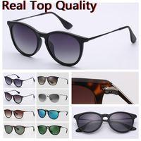 designer sunglasses women sunglasses top quality erika uv protection polarized unpolarized lenses with black or brown leather case, cloth et