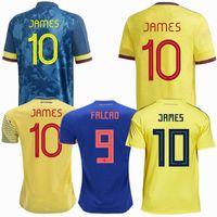 2019 2020 2021 2022 축구 유니폼 국립 대표팀 콜롬비아 홈 멀리 미나 Quintero Muriel Bacca Falcao James Cuadrado 20 22 축구 남성 여성 셔츠