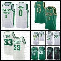 """2021 New Basketball Jersey Boston """"Celtics"""" 33 Marcus 36 Smart Jayson 0 Tatum Kemba 8 Walker Marcus 36 Smart Gordon 20 Hayward"""