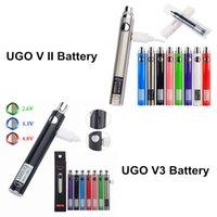 MOQ 10PCS Original Ugo-V3 III Ego-Batterien 600 900mAh-Vape-Stift Evod Micro USB Pass-Through Ecig-Ladegerät an der Unterseite 510 Batterie