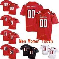 NCAA College Jerseys Texas Tech 4 أنطوان Wesley 44 Donny Anderson 5 Michael Crabtree 5 Patrick Mahomes II مخصص كرة القدم مخيط