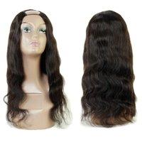 U Часть парика волна тела человеческие волосы без кружева бразильский перуанский индийский европейский 100% необработанный волос натуральный цвет