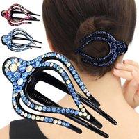Hair Accessories Women Girls Duck Clip Trendy Hairpin Rhinestone Charm Convenient Grip Korean Style